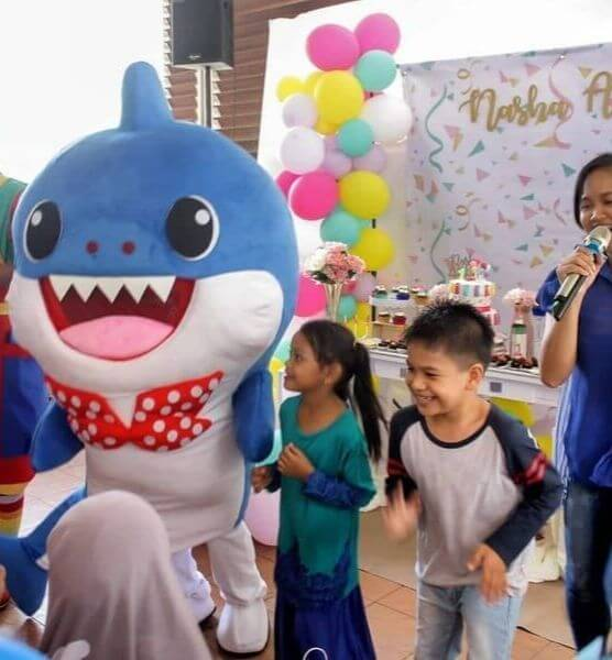 Hire daddy shark for birthday party